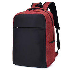 Polyester Synthetic Zipper School Bag Solid Color Daily Red / Dark Grey / Light Grey / Fall & Winter