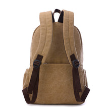 Load image into Gallery viewer, Canvas Zipper School Bag Solid Color Outdoor Beige / Coffee / Brown / Fall & Winter