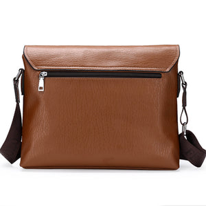 Men's Buttons PU Satchel / Shoulder Messenger Bag Solid Colored Black / Brown / Khaki