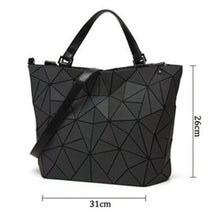 Load image into Gallery viewer, Women's Zipper / Chain PU(Polyurethane) / Synthetic / PU Tote Color Block Black