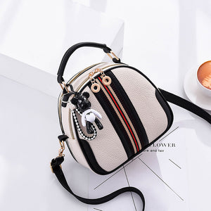 Women's Zipper PU(Polyurethane) / PU Crossbody Bag Solid Color Black / Black / White / White / Fall & Winter