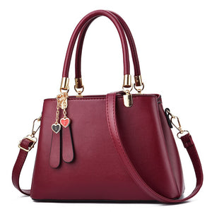 Women's Zipper PU(Polyurethane) / PU Top Handle Bag Solid Color Black / Wine / Blushing Pink / Fall & Winter