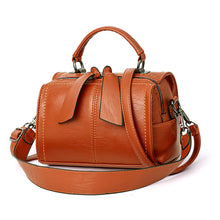 Load image into Gallery viewer, Women's Zipper PU(Polyurethane) / PU Top Handle Bag Solid Color Black / Camel / Wine / Fall & Winter