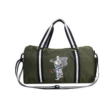 Load image into Gallery viewer, Waterproof Oxford Cloth Zipper Travel Bag Geometric Daily Red / Light Grey / Army Green / Unisex