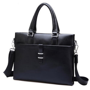 Men's Zipper PU(Polyurethane) / PU Briefcase Solid Color Black / Brown