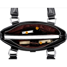 Load image into Gallery viewer, Men's Zipper PU(Polyurethane) / PU Briefcase Solid Color Black / Brown