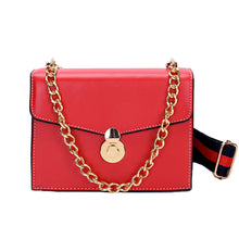 Load image into Gallery viewer, Women's Chain PU(Polyurethane) / PU Crossbody Bag Solid Color Black / Brown / Blushing Pink