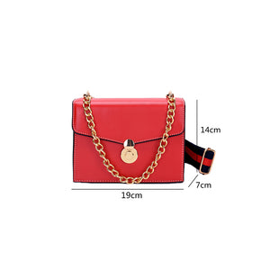 Women's Chain PU(Polyurethane) / PU Crossbody Bag Solid Color Black / Brown / Blushing Pink