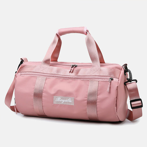 Waterproof Oxford Cloth Zipper Travel Bag Solid Color Practice Black / Purple / Pink / Unisex / Fall & Winter