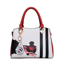 Load image into Gallery viewer, Women's Zipper PU(Polyurethane) / PU Top Handle Bag Floral Print Black / Wine / Blushing Pink / Fall & Winter