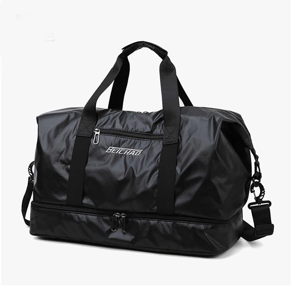 Waterproof Oxford Cloth Zipper Travel Bag Solid Color Practice Black / Silver / Pink / Unisex / Fall & Winter