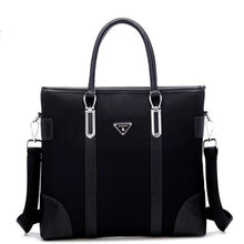 Load image into Gallery viewer, Men's Zipper Oxford Cloth Briefcase Solid Color Black