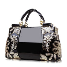 Load image into Gallery viewer, Women's Sequin / Zipper PU(Polyurethane) / PU Top Handle Bag Solid Color Black / Wine / Gold / Fall & Winter