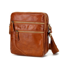 Load image into Gallery viewer, Men's Zipper Nappa Leather / Cowhide Briefcase Solid Color Coffee / Brown / Fall & Winter