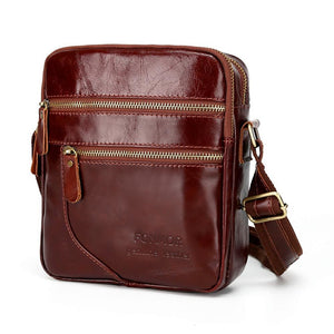 Men's Zipper Nappa Leather / Cowhide Briefcase Solid Color Coffee / Brown / Fall & Winter