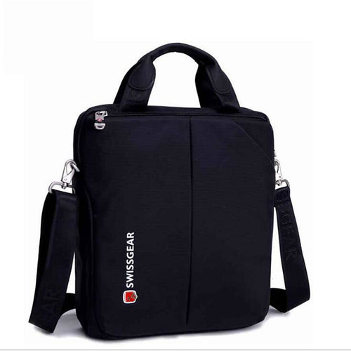 Men's Zipper Nylon Briefcase Black / Gray