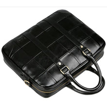 Load image into Gallery viewer, Men's Zipper PU(Polyurethane) / PU Briefcase Black