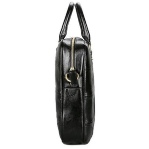 Men's Zipper PU(Polyurethane) / PU Briefcase Black