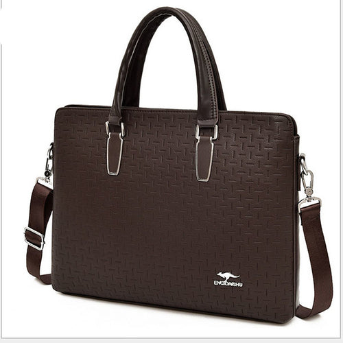 Men's Zipper PU(Polyurethane) / PU Briefcase Solid Color Black / Brown / Blue
