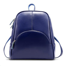 Load image into Gallery viewer, Cowhide Commuter Backpack Casual Fuchsia / Blue / Wine