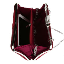 Load image into Gallery viewer, Women's Crystal / Rhinestone / Ruffles Polyester Evening Bag Rhinestone Crystal Evening Bags Geometric Purple / Almond / Fuchsia