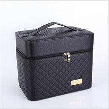 Load image into Gallery viewer, Waterproof PU(Polyurethane) PU Zipper Cosmetic Bag Event / Party Black / Sillver Gray / Fuchsia