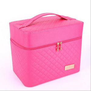 Waterproof PU(Polyurethane) PU Zipper Cosmetic Bag Event / Party Black / Sillver Gray / Fuchsia