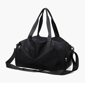 Zipper Travel Bag Solid Color Solid Color Oxford Cloth Synthetic Practice Black / Pink / Unisex / Fall & Winter
