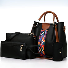 Load image into Gallery viewer, Women's Zipper PU Bag Set Bag Sets 4 Pieces Purse Set Black / Brown / Light Grey