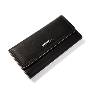 Women's Rivet PU(Polyurethane) / PU Wallet Solid Color Black / Purple / Blushing Pink