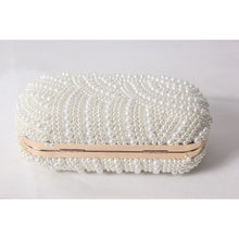 Load image into Gallery viewer, Women's Beading / Pearl / Imitation Pearl Satin Evening Bag Solid Colored White-Beige-Red