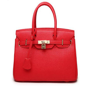 Women's Zipper Tote Cowhide Blue / Black / Red