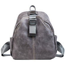 Load image into Gallery viewer, Women's Zipper Commuter Backpack Backpack PU(Polyurethane) Solid Color Brown / Black / Gray / Fall & Winter