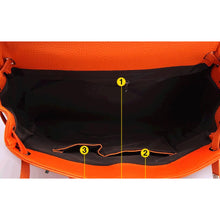 Load image into Gallery viewer, Women's Zipper PU(Polyurethane) Top Handle Bag Black / Orange / Red