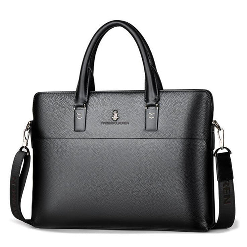 Men's Zipper Briefcase PU(Polyurethane) Black / Brown