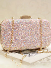 Load image into Gallery viewer, Women's Sequin Evening Bag Evening Bag Faux Leather White / Blushing Pink / Wedding Bags / Wedding Bags