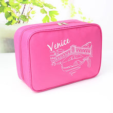 Load image into Gallery viewer, Travel Bag / Travel Organizer / Cosmetic Bag Large Capacity / Waterproof / Moistureproof for Clothes Fabric 25*17*8.5 cm Solid Colored Travel