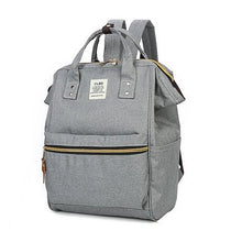 Load image into Gallery viewer, Women's Zipper School Bag Backpack Canvas Geometric Gray