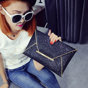 Women's Pocket Clutch PU(Polyurethane) Champagne / Gold / Black