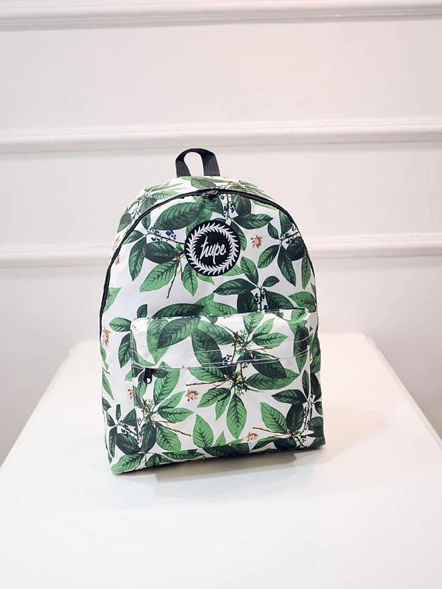 Unisex Pattern / Print School Bag Nylon Green
