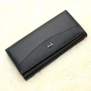 Women's Wallet Cowhide Solid Color Black / Red / Fall & Winter