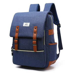 Unisex Zipper School Bag Backpack Polyester Red / Light Grey / Royal Blue