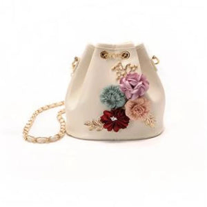 Women's Appliques Shoulder Messenger Bag PU(Polyurethane) White / Black / Blushing Pink