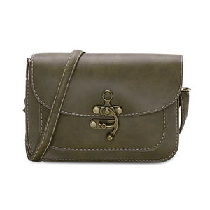 L.WEST® Women's Buttons Crossbody Bag PU(Polyurethane) Gray / Brown / Army Green