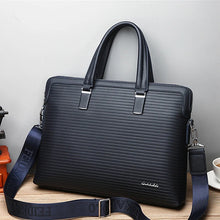 Load image into Gallery viewer, Men's Zipper Briefcase PU(Polyurethane) Solid Color Blue / Black / Fall & Winter