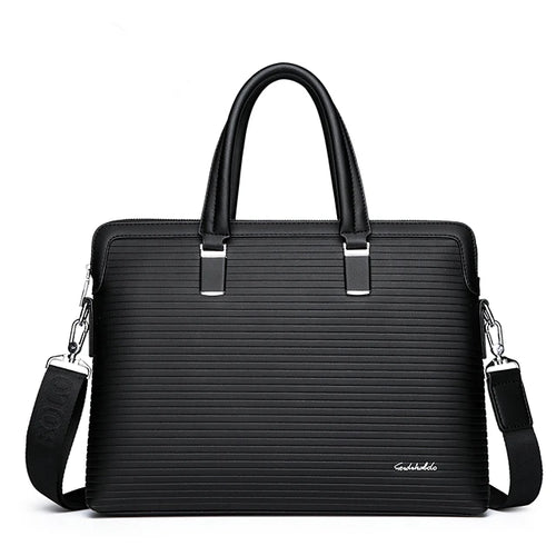 Men's Zipper Briefcase PU(Polyurethane) Solid Color Blue / Black / Fall & Winter