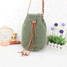 Load image into Gallery viewer, Women's Crossbody Bag Straw Bag Straw Solid Color Beige / Dark Green / Brown / Fall & Winter