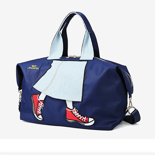 Zipper Travel Bag Cartoon / Character Cartoon Oxford Cloth Synthetic Practice Black / Dark Blue / Purple / Unisex / Fall & Winter