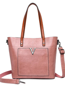 Women's Zipper Shoulder Messenger Bag PU(Polyurethane) Solid Color Red / Blushing Pink / Brown / Fall & Winter