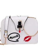 Load image into Gallery viewer, Women's Metal Chain Crossbody Bag PU(Polyurethane) White / Black / Blushing Pink